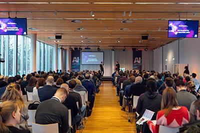Zuschauer bei der AI Masters Konferenz 2019